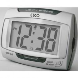 Despertador digital ELCO ED50-PLATA