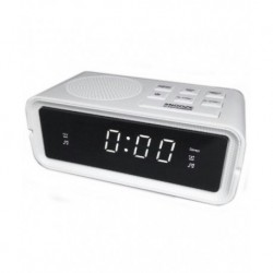 Radio reloj despertador ELCO PD183-BLANC